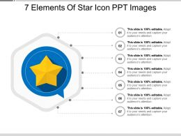 7 Elements Of Star Icon Ppt Images