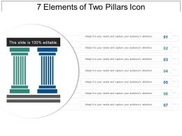 7 Elements Of Two Pillars Icon Presentation Examples
