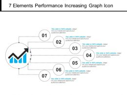 7 Elements Performance Increasing Graph Icon