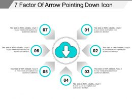 7 Factor Of Arrow Pointing Down Icon