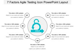 7 Factors Agile Testing Icon Powerpoint Layout