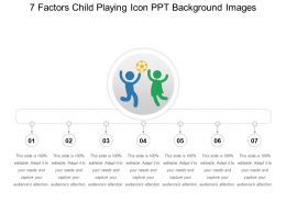 7 Factors Child Playing Icon PPT Background Images