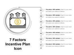 7 Factors Incentive Plan Icon