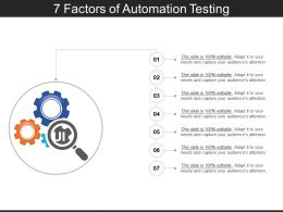 7 Factors Of Automation Testing PPT Sample Download