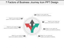 7_factors_of_business_journey_icon_ppt_design_Slide01
