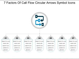 7 Factors Of Call Flow Circular Arrows Symbol Icons