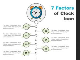 7 Factors Of Clock Icon Presentation Layouts