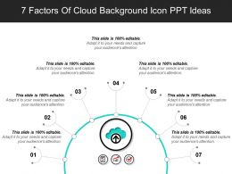 7 Factors Of Cloud Background Icon PPT Ideas