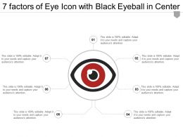 7 Factors Of Eye Icon With Black Eyeball In Center