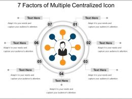 7 Factors Of Multiple Centralized Icon Sample Ppt Files