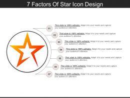 7 Factors Of Star Icon Design PPT Images Gallery