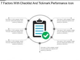 7 Factors With Checklist And Tickmark Performance Icon