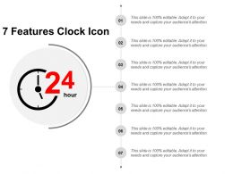 7 Features Clock Icon Presentation Visual Aids