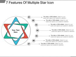 7 Features Of Multiple Star Icon Ppt Infographics