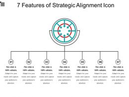 7 Features Of Strategic Alignment Icon