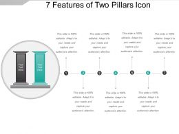 7 Features Of Two Pillars Icon Presentation Layouts