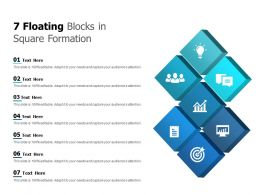 7 Floating Blocks In Square Formation