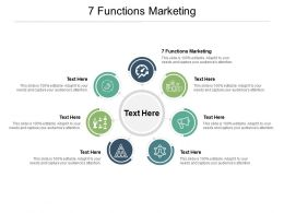 7 Functions Marketing Ppt Powerpoint Presentation Infographics Vector Cpb