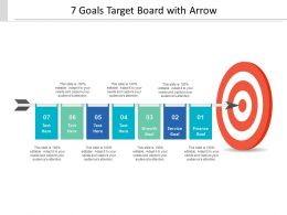 7 Goals Target Board With Arrow