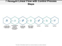 7 Hexagon Linear Flow With Control Process Steps