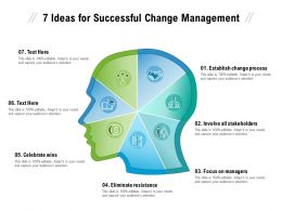 7 Ideas For Successful Change Management