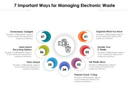 7 Important Ways For Managing Electronic Waste