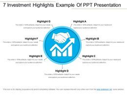 7 Investment Highlights Example Of Ppt Presentation