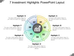7 Investment Highlights Powerpoint Layout