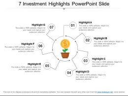 7 Investment Highlights Powerpoint Slide