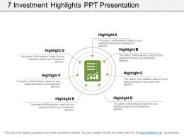 7 Investment Highlights Ppt Presentation