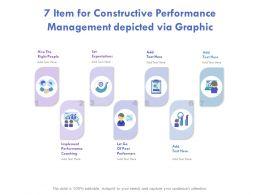 7 Item For Constructive Performance Management Depicted Via Graphics