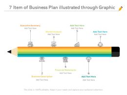 7 Item Of Business Plan Illustrated Through Graphic
