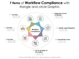 7 Items Of Workflow Compliance With Triangle And Circle Graphic