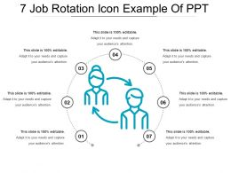 7 Job Rotation Icon Example Of Ppt
