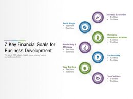 7 Key Financial Goals For Business Development