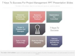 7 Keys To Success For Project Management Ppt Presentation Slides