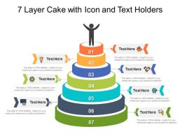 7 Layer Cake With Icon And Text Holders