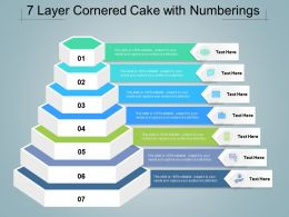 7 Layer Cornered Cake With Numberings