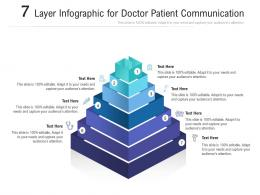7 Layer For Doctor Patient Communication Infographic Template