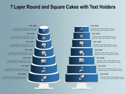 7 Layer Round And Square Cakes With Text Holders