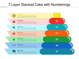 7 Layer Stacked Cake With Numberings