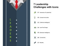 7 Leadership Challenges With Icons