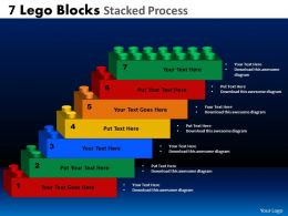 7 lego blocks stacked proces