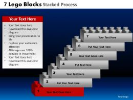7 Lego Blocks Stacked Proces Powerpoint Slides And Ppt Templates DB