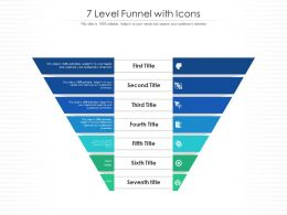 7 Level Funnel With Icons