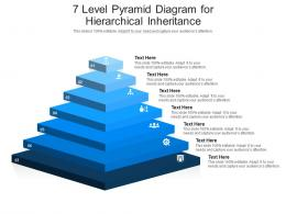 7 Level Pyramid Diagram For Hierarchical Inheritance Infographic Template