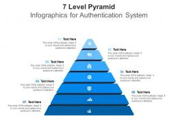7 Level Pyramid For Authentication System Infographic Template