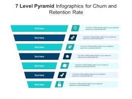 7 Level Pyramid For Churn And Retention Rate Infographic Template