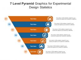 7 Level Pyramid Graphics For Experimental Design Statistics Infographic Template