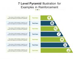7 Level Pyramid Illustration For Examples In Reinforcement Infographic Template